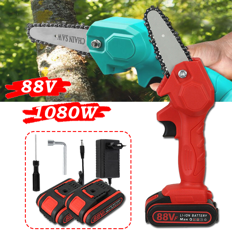 Mini Chainsaw Portable Cordless Chain Saw Electric Logging Trimming Cutter Machine for Garden Tree One-Handed Electric Chain Saw