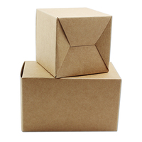 150Pcs 6*6*6cm Kraft Paper Box Gift Packaging Box For Party Jewelry Perfume Cosmetic Essential Oil Wedding Candy Handmade Soap