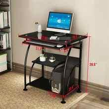 Exquisite Integrated Stalinite Computer Laptop Home Living Room Desk 307B Black