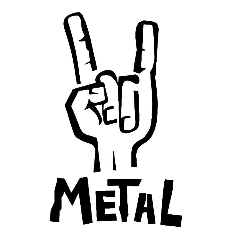 Наклейка из тяжелого металла 7,6 см * 12,1 см, Виниловая наклейка, электрическая бас-гитара, рок, персональные автомобильные аксессуары, черный/...