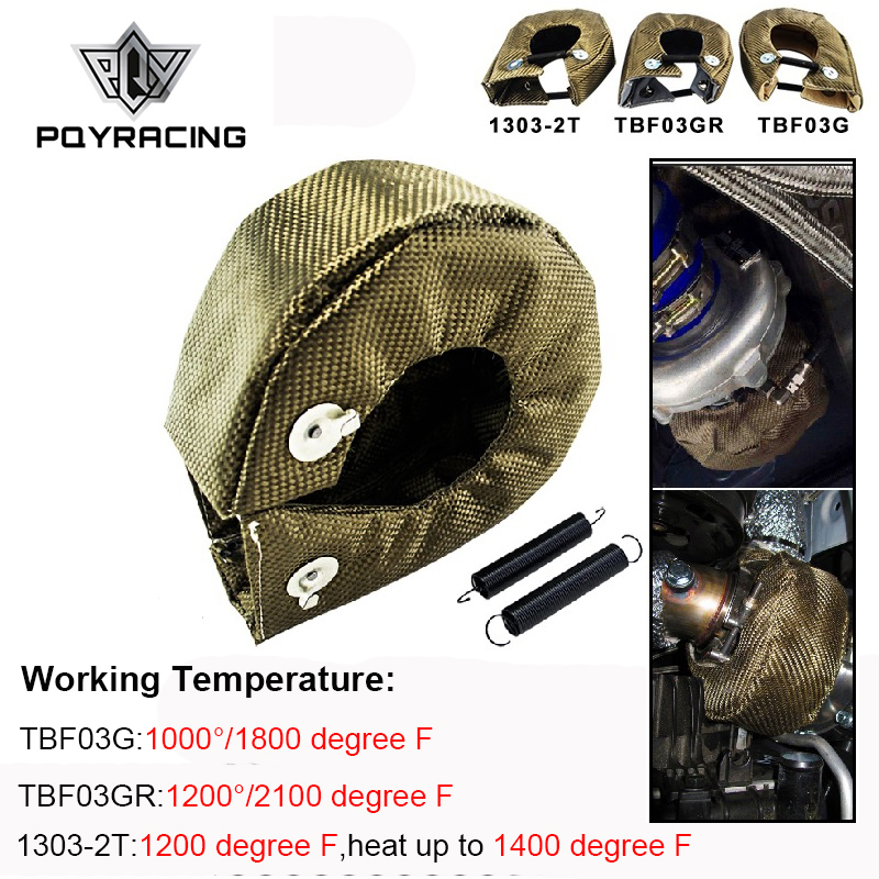 PQY - 100% Full TITANIUM <font><b>T3</b></font> <font><b>turbo</b></font> <font><b>blanket</b></font> <font><b>turbo</b></font> heat shield fit : t2 t25 t28 gt28 gt30 gt35 and most <font><b>t3</b></font> <font><b>turbo</b></font> PQY-TBF03 image