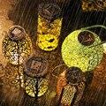 Ретро светодиодный солнечный светильник полые Фонари светильник ручной Подвесная Лампа для проектора открытый сад Водонепроницаемый газо...