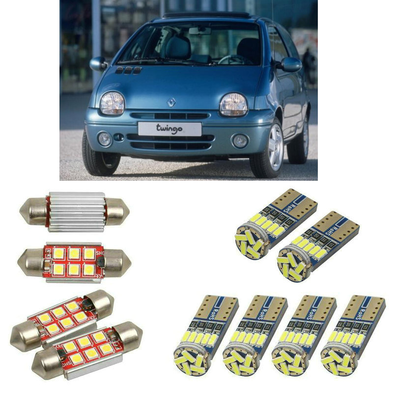Interior led Car lights For Renault twingo mk1 c06 mk1 van s06 car accessories boot light License Plate Light 6pc