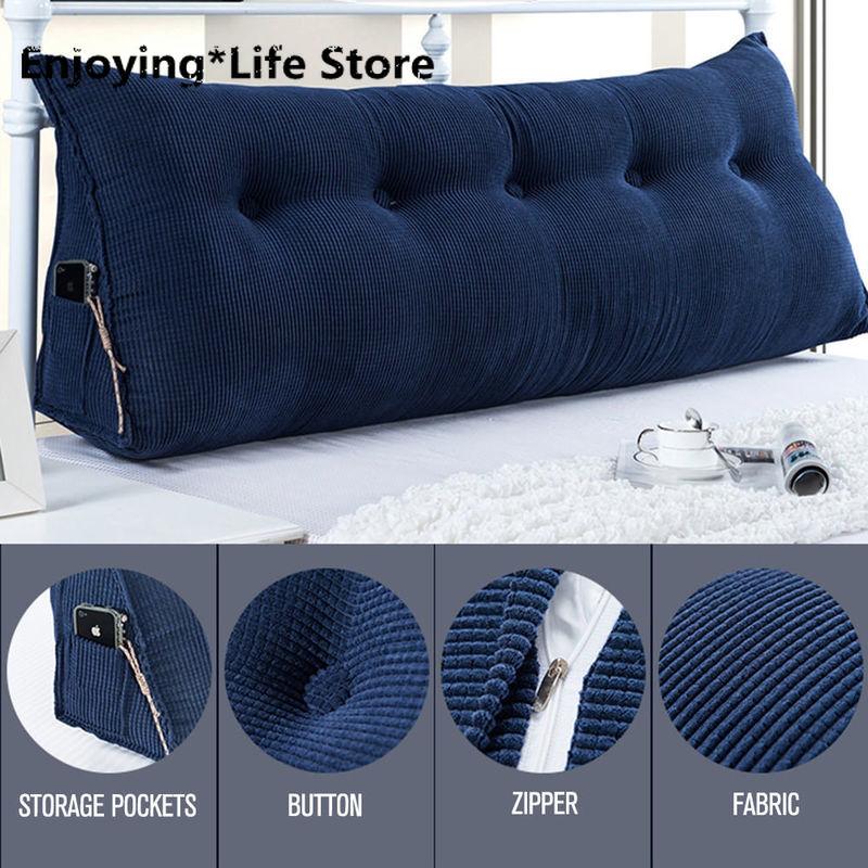 Backrest Support Reading TV Pillow Bolster Body Cushion Bed Rest Bedside Relax Pillow