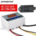 XH-W3005 цифровой регулятор влажности 12 в 24 В 220 В переключатель контроля температуры и влажности Термостат гигростат датчик Скидка 40%