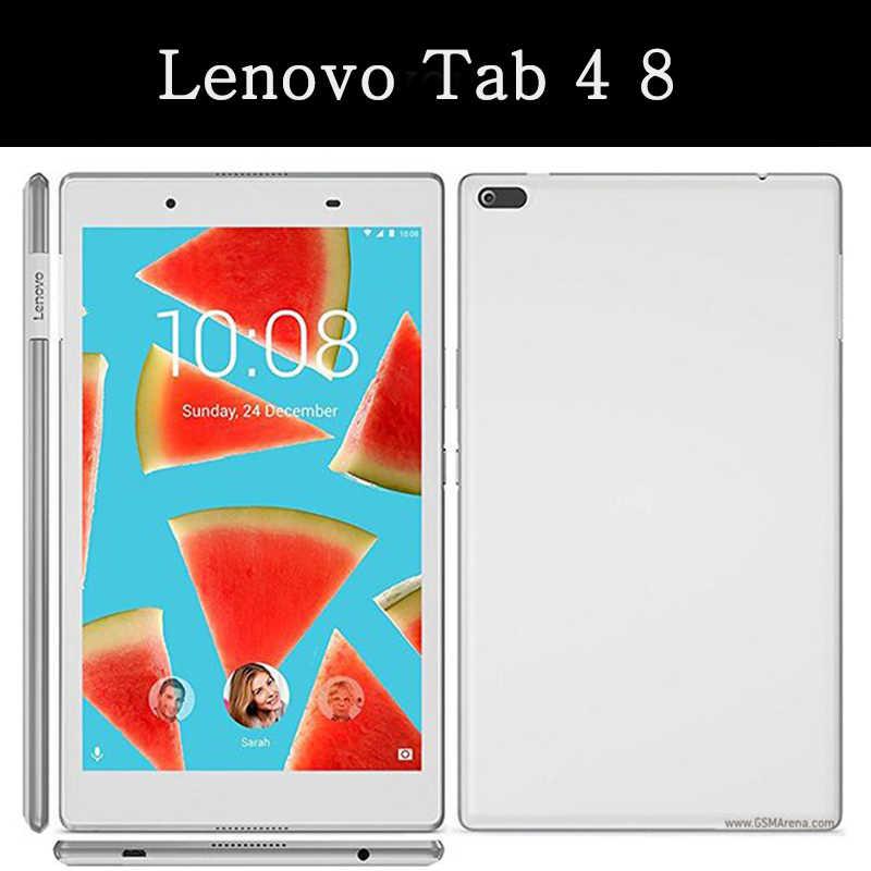 لينوفو تبويب 4 8 TB-8504F 8 بوصة QIJUN جراب كمبيوتر لوحي ل Tab4 TB-8504N 8504X2017 8.0 'حالة ضئيلة فليب غطاء لينة جلد قذيفة