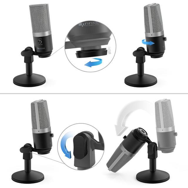 Micrófono de USB con Control de Ganancia