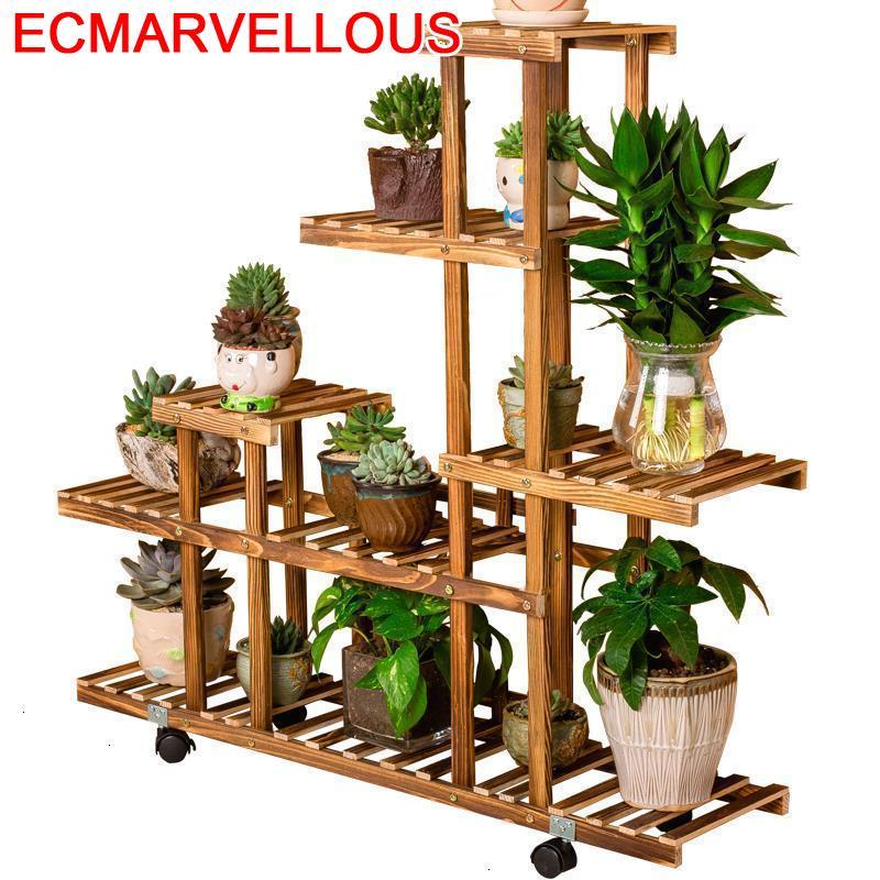 For Indoor Pot Estante Flores Varanda Estanteria Para Plantas Terraza Ladder Dekoration Outdoor Balcony Flower Shelf Plant Stand