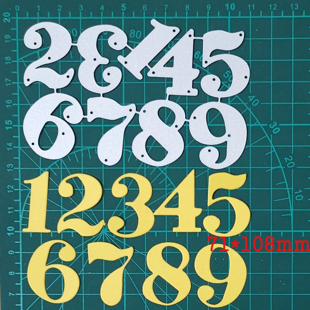 Металлические стальные штампы 1-9 цифр поделки трафарет для DIY скрапбукинга бумажные карты лезвие перфорация тиснение