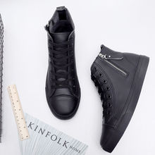 2019 new arrival leather boots women ankle shoes High qualit