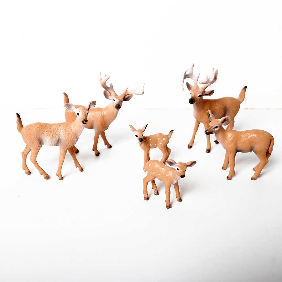 Estatuetas de simulação Animal Selvagem Modelo Veados, Alces, Alces, rena, alpaca Coleção Figuras de Ação Figura Brinquedos Para As Crianças
