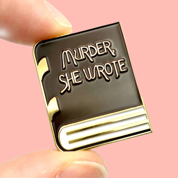 Cartoon Murder She Wrote Mystery Book Enamel Brooch Pins Badge Lapel Pins Alloy Metal Fashion Jewelry Accessories Gifts image