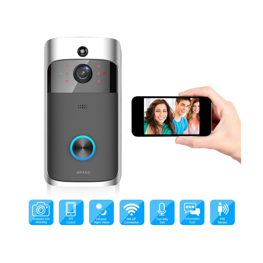Video Doorbell Wireless WiFi Smart Visual Intercom Deurbel Recording Low Power Consumption Remote Home Monitoring By Smartphone