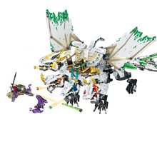 1100PCS Small Building Blocks Toys Compatible with Legoinglys Ninja The Ultra Dragon Gift for girls boys children DIY gift(China)