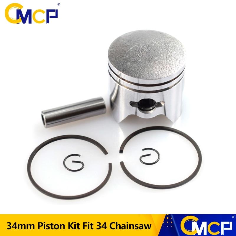 CMCP 34mm Piston Kit Part For Stihl BG45 BG46 FS38 FS45 FS55 HS45 HS81 Engine Tool Accessories Chainsaw Spare Parts