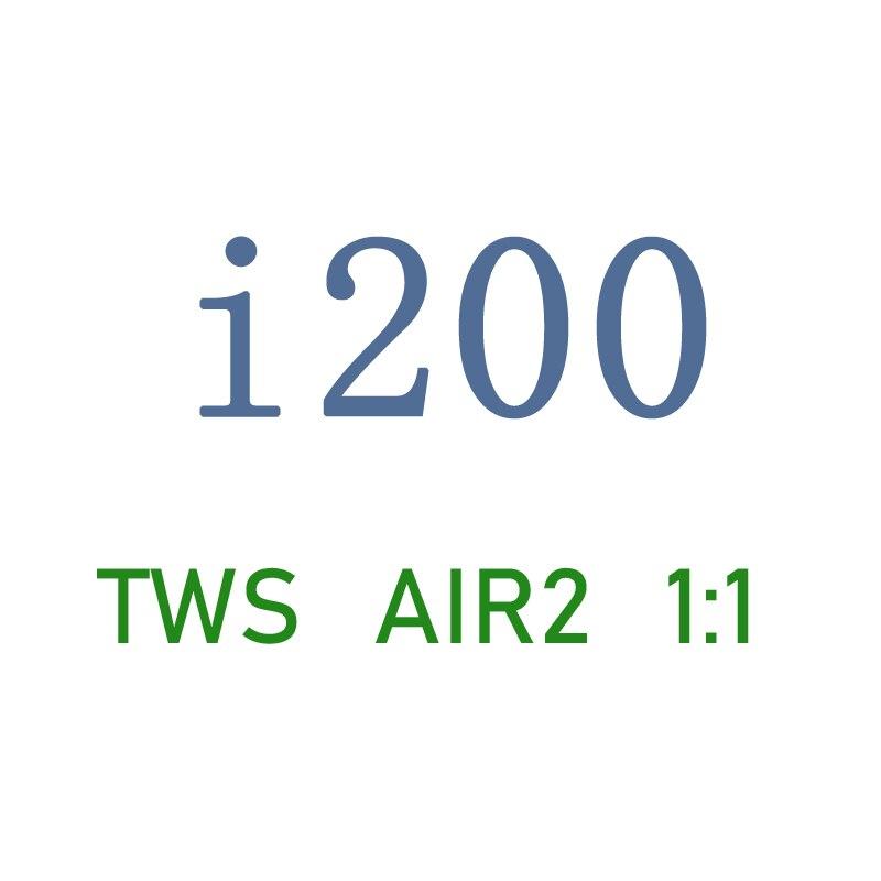 Nouveau i200 TWS 1:1 Air2 écouteur Pop up connexion sans fil écouteur QI sans fil charge PK puce i12tws i10 i60 i80 i500 i9000tws