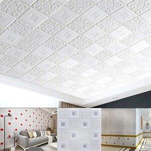 3D Wall Stickers ceiling sticker roof decoration Foam wallpaper stereo waterproof DIY TV background wallpaper decoration sticker