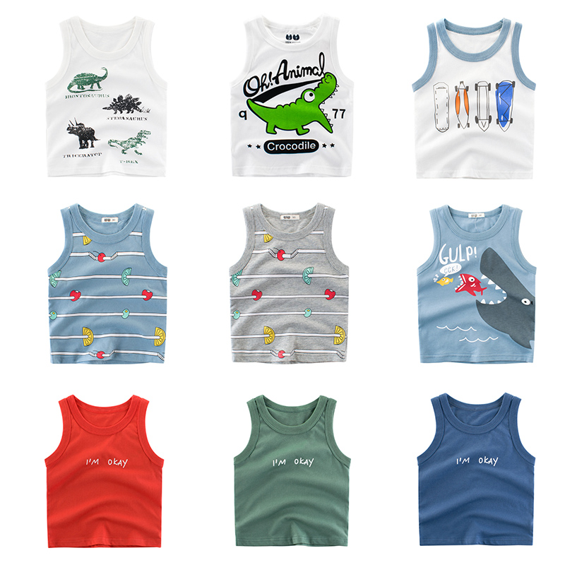 Kids Childrens Baby Boys Girls Plain Sleeves 100/%Cotton Vest T Shirt Tops Tee