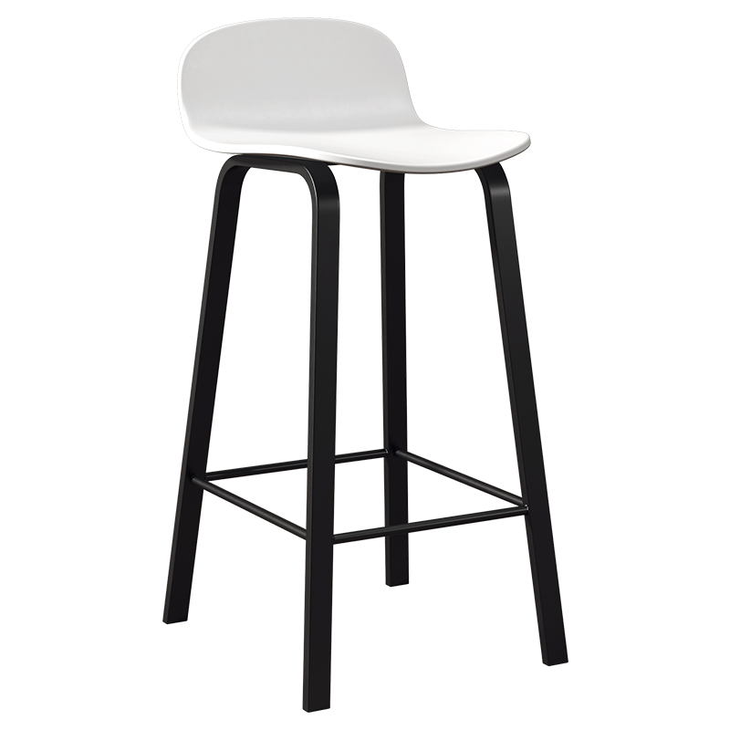 Nordic Bar Chair Modern Light Luxury Simple Bar Stool Stool Front Desk Leisure Tea Shop Cafe High Chair
