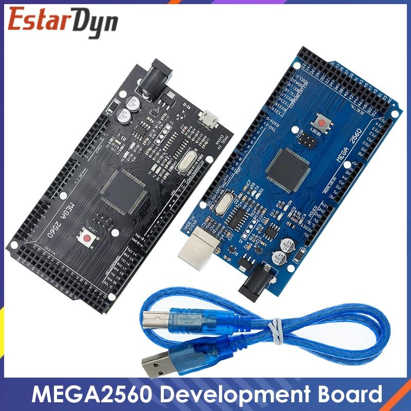 Mega2560 mega 2560 r3 (ATmega2560-16AU ch340g) placa de desenvolvimento placa usb avr mega2560 para arduino