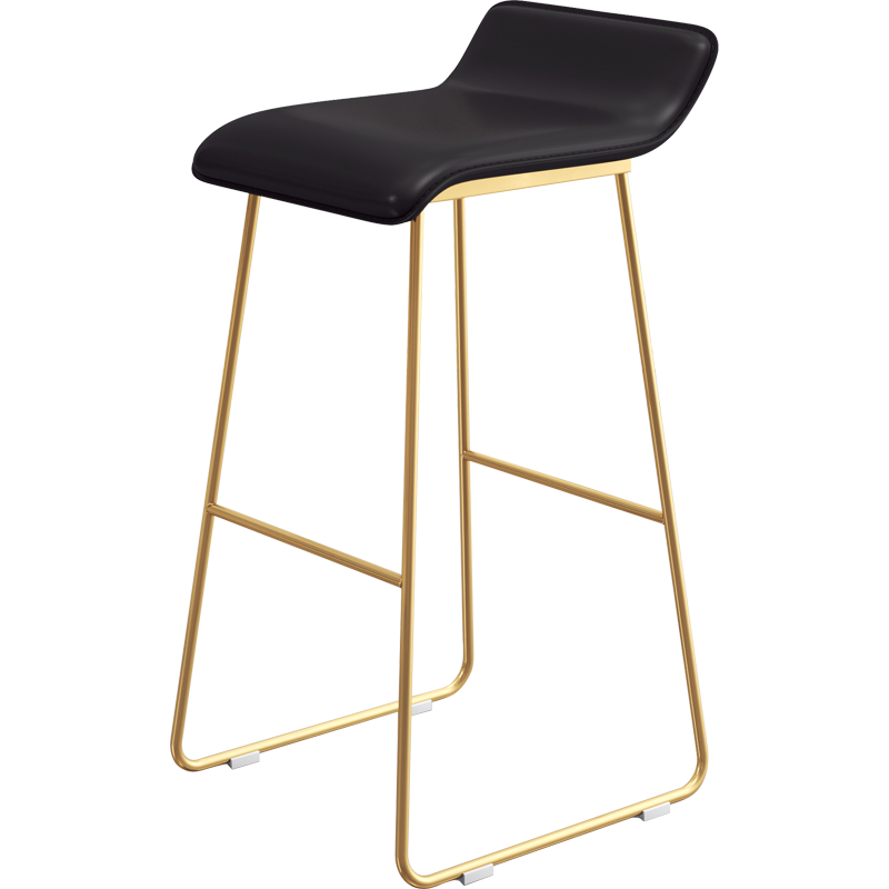 Northern Europe Bar Chair Leisure Home Modern Simple Creative Iron Bar Chair Front Desk Net Red Coffee Stool