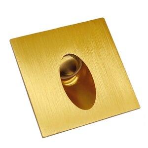Золотой настенный светильник Алюминиевый Светильник встраиваемый в стену для подсветки ступеней лестницы Декоративная подсветка интерье...