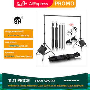 Image 1 - Photo Background Backdrop Support System Kit for Photo Studio Background Stand Photography backdrops