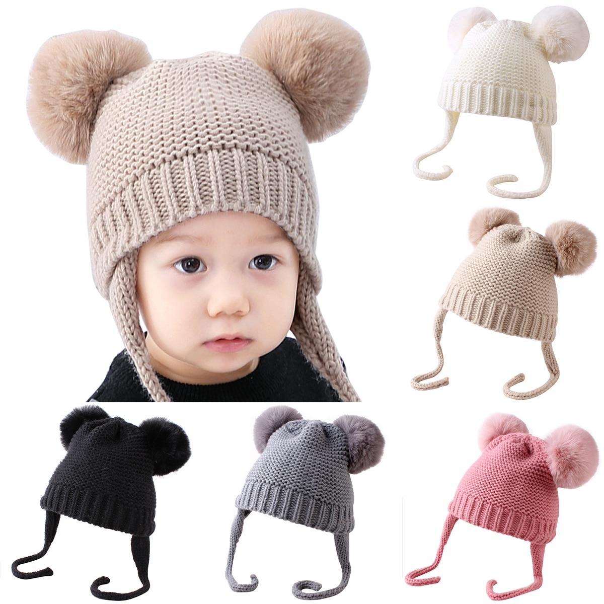 Cute Toddler Kids Girl/&Boy Baby Infant Winter Warm Crochet Knit Hat Beanie Cap
