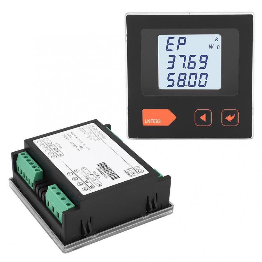 Compteur d'énergie électrique numérique LNFE93 LCD compteur de courant de tension multifonction 3 phases Module voltmètre ampèremètre