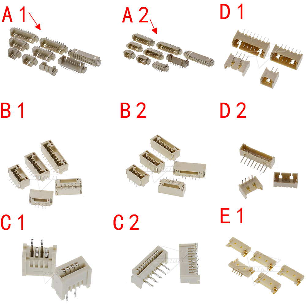 10 PCS JST 1.25mm Pitch Connector Micro GH1.25 2 Pin 2 3 4 5 6 7 8 9 10P