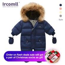 Ircomll yeni doğan bebek kış giysileri toddler tulum kapşonlu iç polar kız erkek giysileri sonbahar tulum çocuk giyim