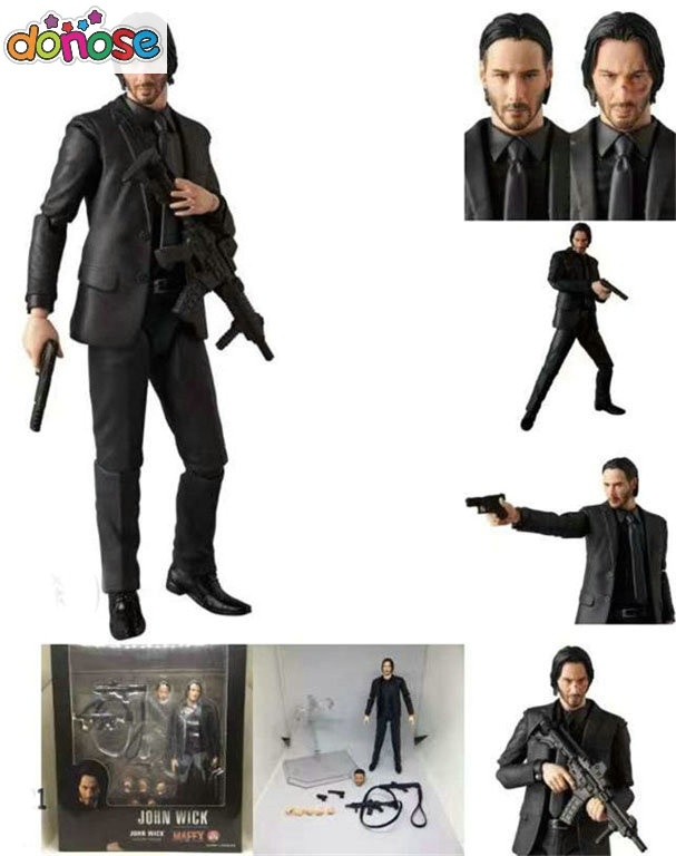 NEW Movie John Wick Keanu Reeves  Mafex  070  John Wick Action Figure Collection Model Kids Toy Doll