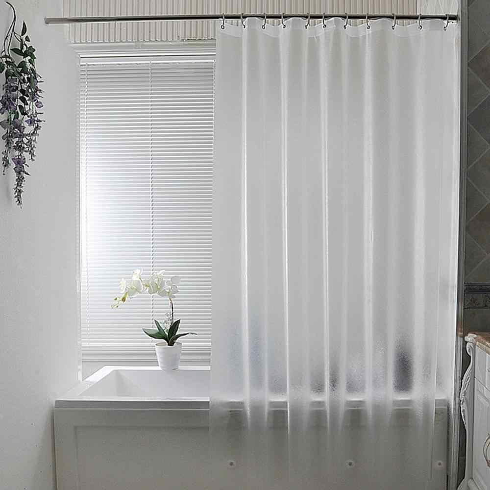 UFRIDAY Nordic PEVA matowa zasłona prysznicowa półprzezroczysta kurtyna łazienkowa nowoczesny plastikowy wodoodporny zagęszczony kurtyny kąpielowe