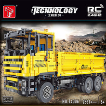 MOC Technical RC Car Mine Vehicle Model Excavator Loader Forklift Crane Dump Truck Building Blocks Bricks Toys For Kids Gifts