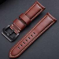 20 22 26 MM Echtes Leder uhr band für Garmin Fenix 6x5x3 3HR 6 5 6S 5S plus smart watch zubehör armband armband band