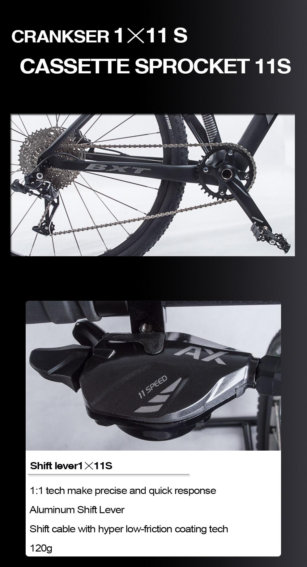 "Hb131014fa3eb4879b525162f677bfe08p BXT 29inch carbon fiber Mountain bike 1*11 Speed Double Disc Brake 29"" MTB Men bicycle 29er wheel S/M/L frame complete bike"