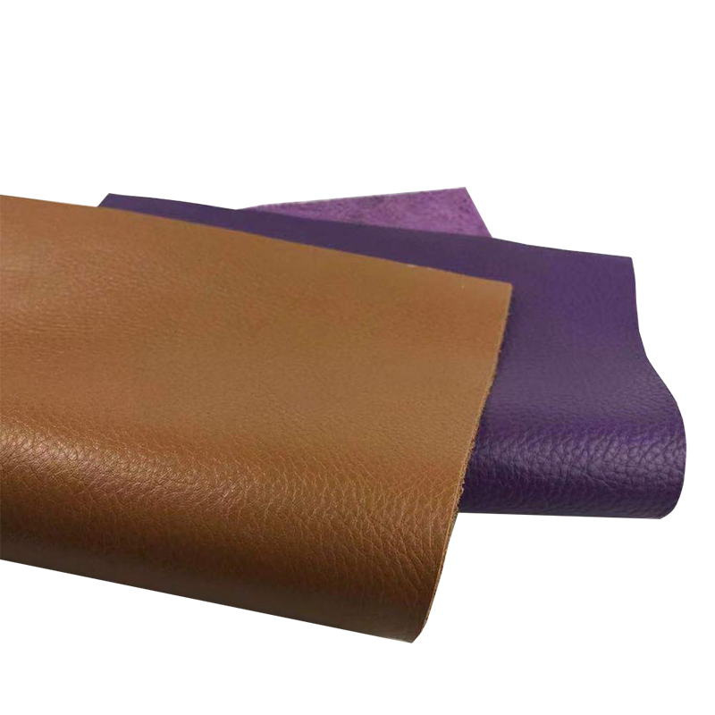 Leather   purple yellow brown lychee   suede     leather   whole cut handmade kraft