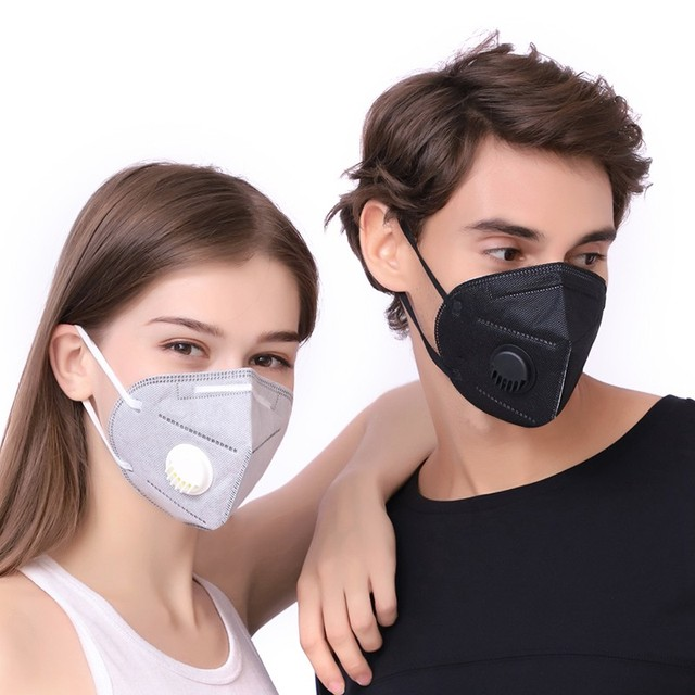 5PCS PM2.5 Anti Air Dust Smoke Pollution Mask Activated carbon filter Windproof Mouth-muffle bacteria proof Flu Face masks Care 1