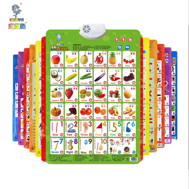 Rush Pinyin Audio Chart Young CHILDREN'S Cognitive ENLIGHTEN Early Education Sound Making Baby with Pictures Reading Toy Alphabe
