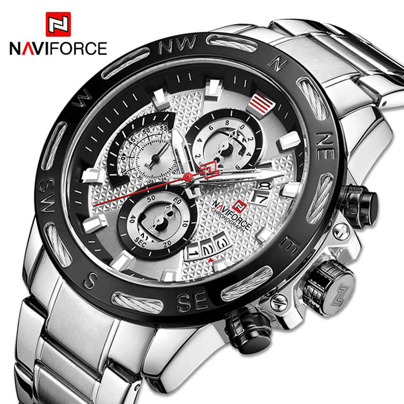 NAVIFORCE Men's Watches Top Brand Luxury Bussiness Watch Fashion Quartz Men Wristwatch Military Clock Male Relogio Masculino|Quartz Watches| - AliExpress