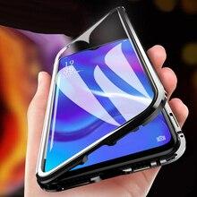 Dubbelzijdig Magnetische Absorptie Metalen Telefoon Case Voor Realme 5pro 6 Pro 5i Volledig Beschermende Beschermhoes Voor Realme C11 c3 6i Cover