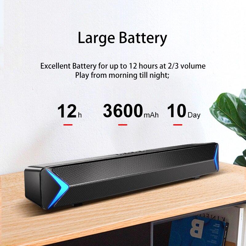 S13 Soundbar for TV Home Theater Computer Speaker Bluetooth Speaker Surround Sound Bar with AUX USB FM Radio 2