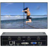 4 Channels TV Wall Controller 2x2 1x3 1x2 HDMI DVI VGA USB Video Processor TV Splicing Box With RS232 Control