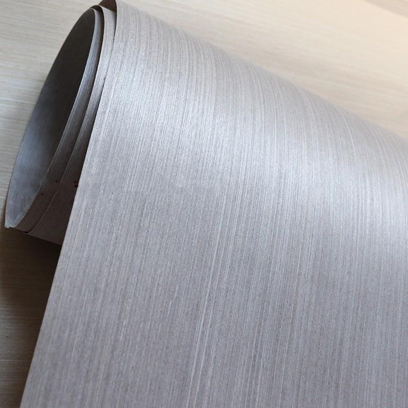 Technical Wood Veneer Furniture Decorative Veneer Engineering Veneer E.V. 64cm X 2.5m  0.25mm Thick Q/C Gray