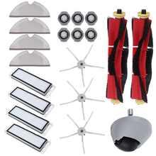 20 pçs roda limpa hepa filtro principal escova acessórios para xiaomi roborock s6 s60 s65 s5 max t6 aspirador de pó casa aplicance