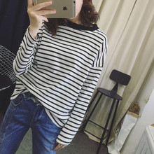 Newest Fashion Women Long sleeve T-Shirt Stripped Shirts Ropa De Mujer Moda 2019 Autumn dropship women clothing Ladies Tops C331