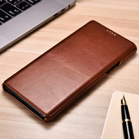 For Samsung Note9 Flip Case Retro Cowhide Genuine Leather Phone Case Slim Business Smart Cover for Samsung Galaxy Note9 Note8