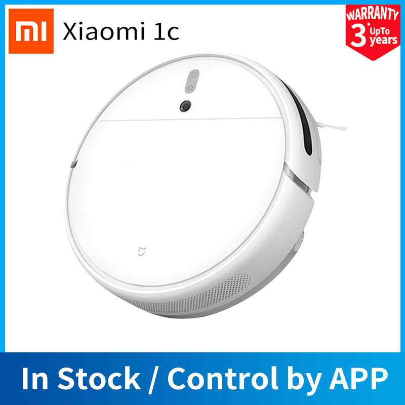 [Global Version]XIAOMI MIJIA 2 in 1 Smart Robot Vacuum Cleaner 1C Sweeping Mopping STYTJ01ZHM for Home 2500Pa APP Control