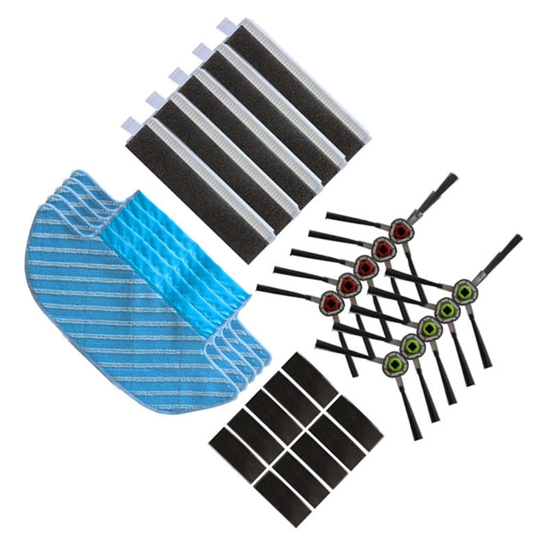 SANQ Robotic Vacuum Cleaner Mop Cloths Brush Filter for ECOVACS DEEBOT OZMO Slim 10 Robot Vacuum Cleaner Rags Parts Accessories title=