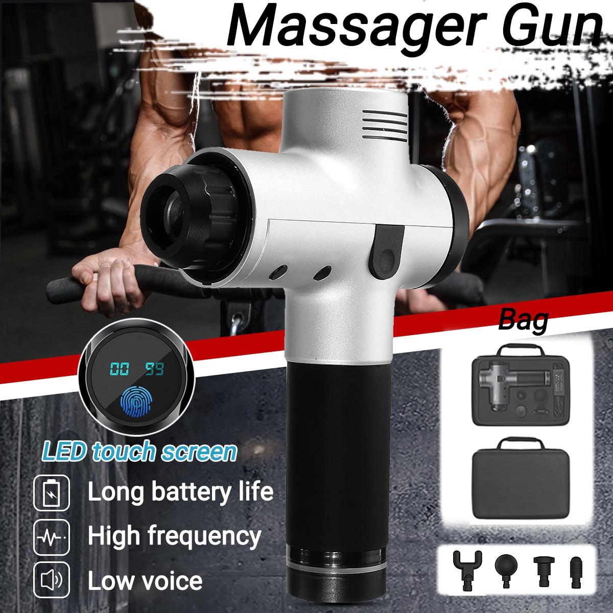 3200r/min 4200r/min 20 Engrenagens Massagem Corporal Terapêutica Eletrônico Arma Armas de Baixo Ruído LEVOU Massagem Músculos Do Corpo relaxante Alívio Da Dor
